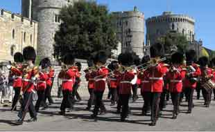 Musical support for the Windsor Castle Guard