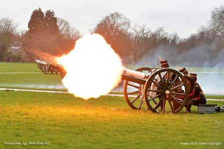 Kings Troop RHA fire Accension Day Gun Salute