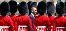 President Obama inspects the Guard of Honour