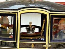 The Queen's Regalia enroute for the Palace of Westminster