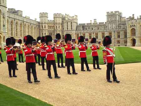Band of the Coldstream Guards at Windsor Castle