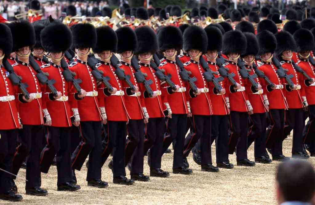 Coldstream Guards on parade