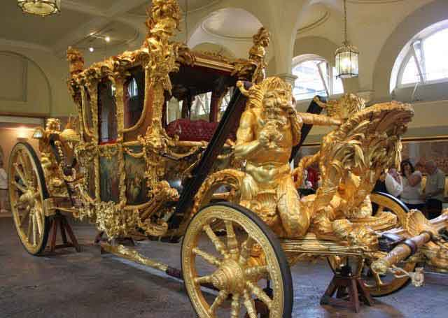 Gold State Coach in the Royal Mews