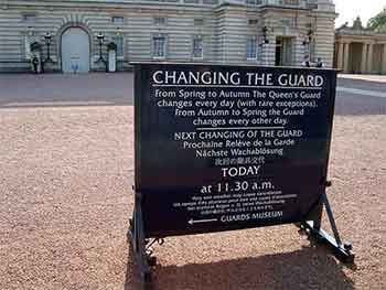 Changing the Guard sign