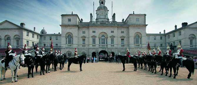 The Queen's Life Guard changing at Horse Guards