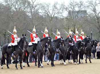 The Queen's Life Guard change on Horse Guards Parade
