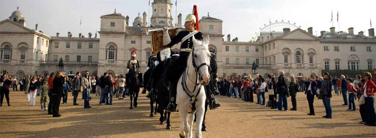 The Blues and Royals on Horse Guards Parade
