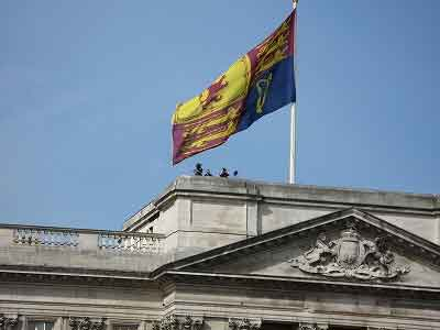 Royal Standard flying over Buckingham Palace
