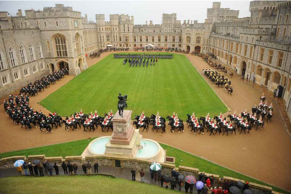 Soveriegns Escort at Windsor Castle for a State Vist