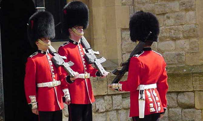 Coldstream Guards Changing the Guard at the Tower of London