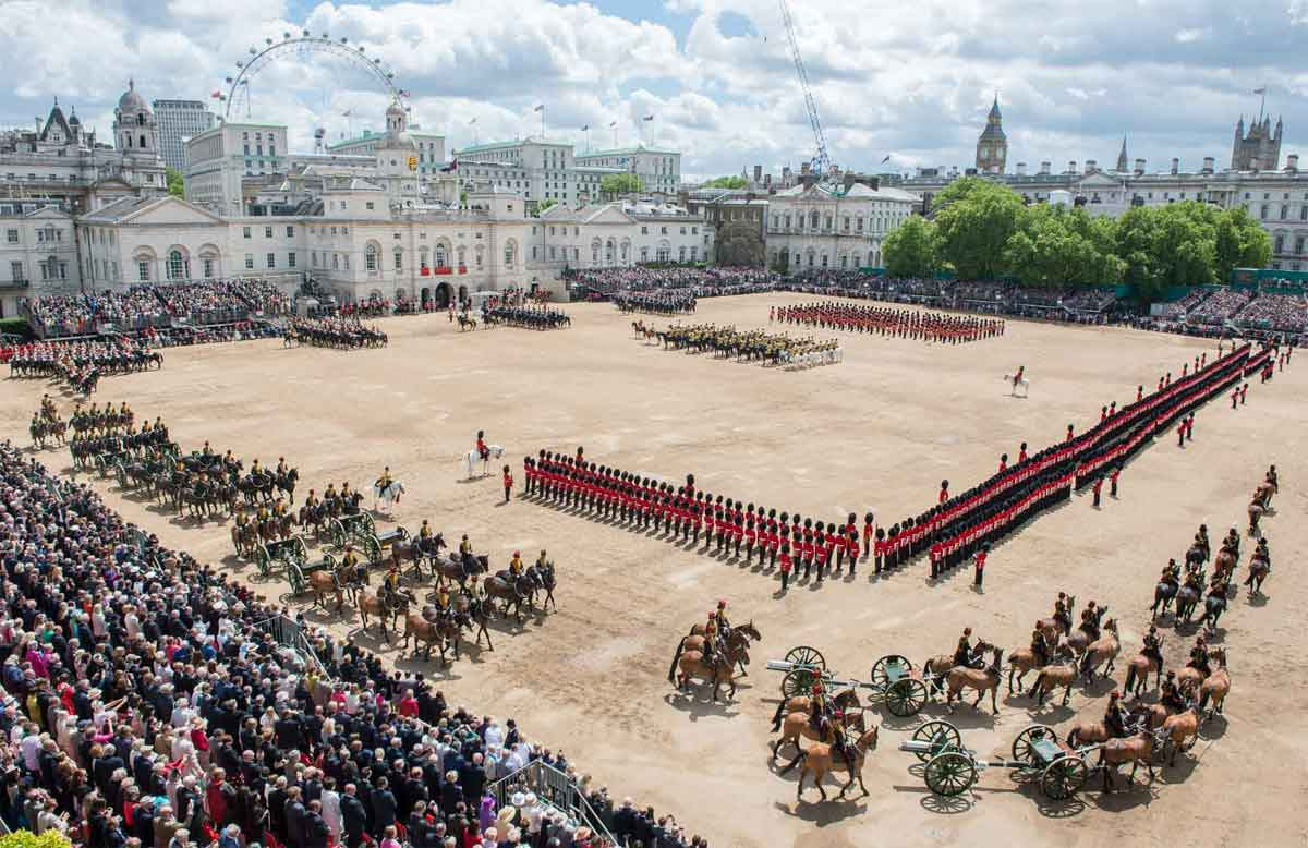 Trooping the Clour on Horse Guards Parade