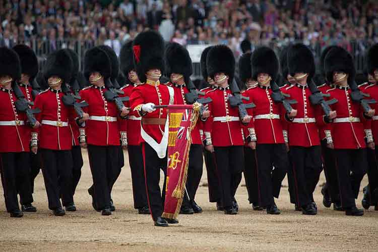 Trooping the Colour of the Coldstream Guards