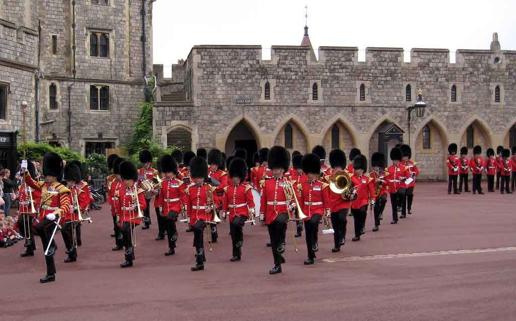 Windsor Castle Guard change ceremony in the Lower Ward