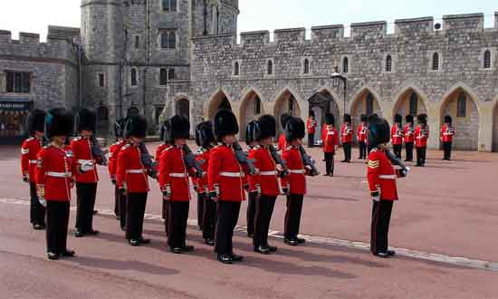 Irish Guards mounting the Windsor Castle Guard