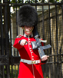 Scots Guard on duty at St James Palace