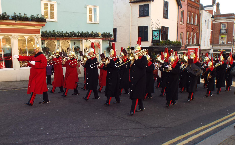 Band of the Household Cavalry in Windsor High Street