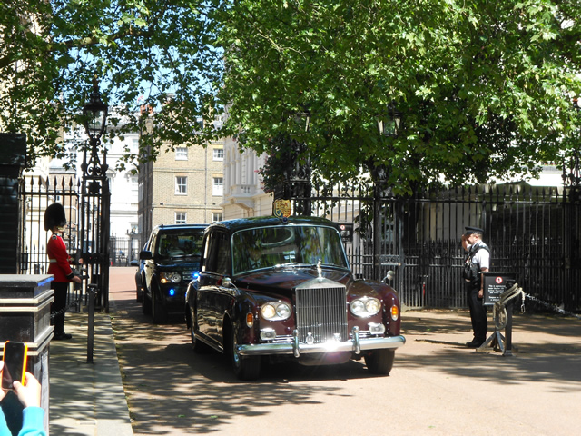 Prince Charles leaving Clarence House