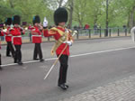 The Guards arrive at Buckingham Palace