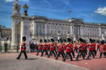 Guards march from Buckingham Palace