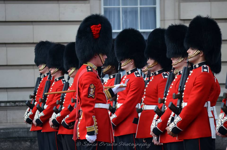 Coldstream Guards on the Forecourt of Buckingham Palace