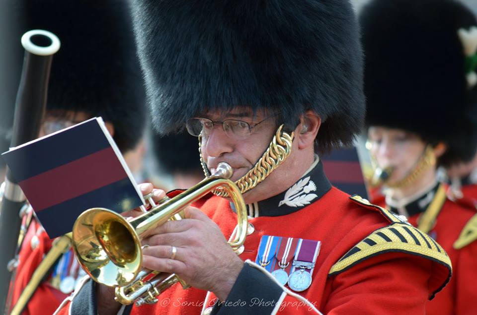 Band of the Scots Guards - Trumpeter Concentrating Hard