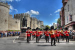 Band marching from Windsor Castle