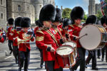 Guards Band turn into Windsor High Street