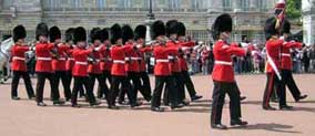 New Guard marching to Buckingham Palace