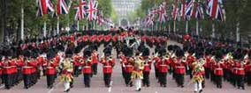 Queen's Birthday Parade being led by the Bands of the Household Division
