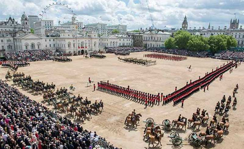 The Queen's Birthday Parade on Horse Guards Parade