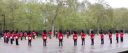 Coldstream Guards Band playing on the Parade Ground