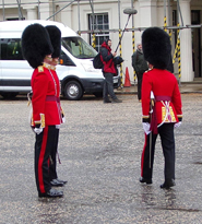 Officiers on parade