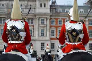 The Queen's Life Guard changing on Horse Guards Parade