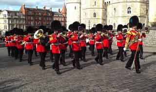 Welsh Guards Band at Windsor Castle