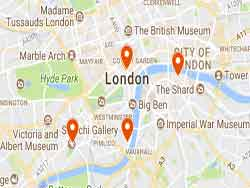 Tourist Attraction Map London.Free Things To Do In London