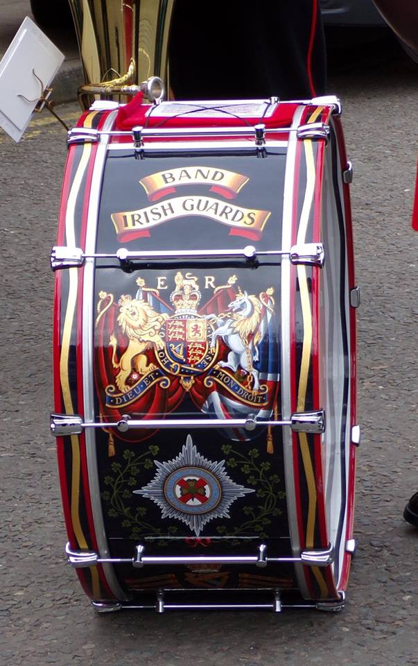 Irish Guards Band bass drum