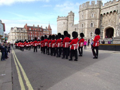 7 Company Coldstream Guards - the Old Guard march back to Barracks
