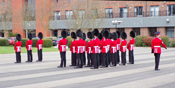 Grenadier Guards formed up for inspection.