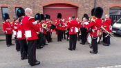 Irish Guards Band assembling in Victorai Barracks