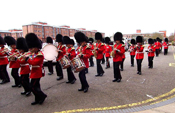 Irish Guards Band Step Off