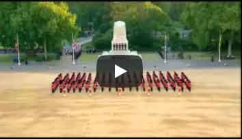 Household Division Beating Retreat