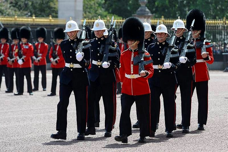 Royal Marines on Guard at Buckingham Palace