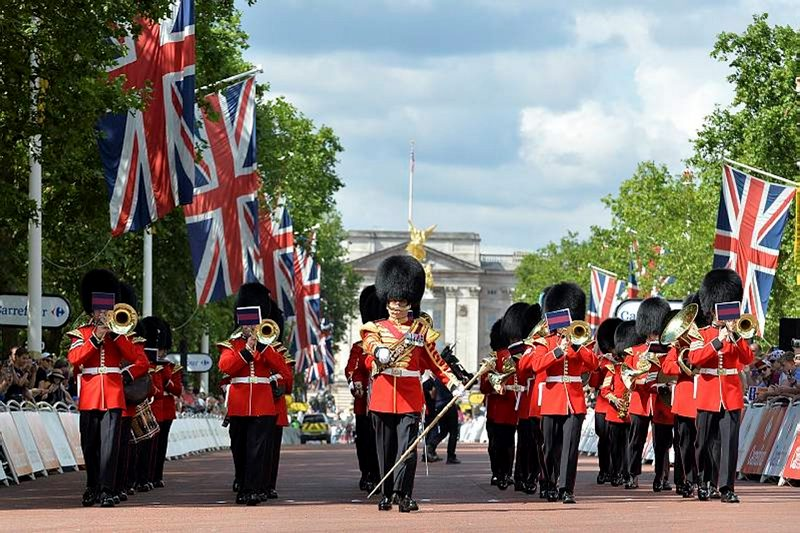 Band of the Welsh Guards on The Mall
