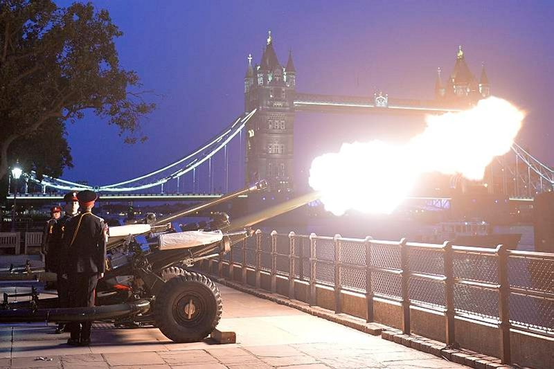 21 Gun Salute fired at the Tower of London
