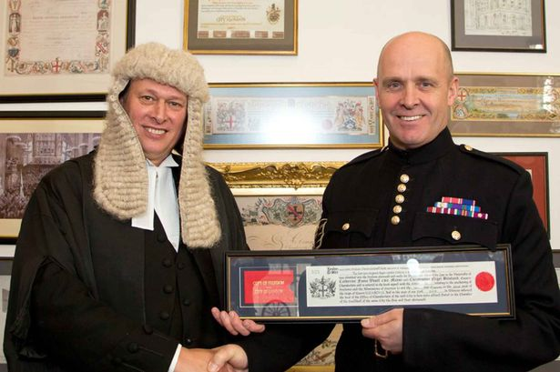 Sergeant Major Mott was given the Freedom of the City of London