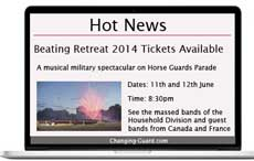 Upcoming event is Beating Retreat