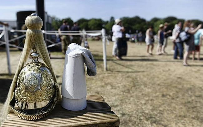 Helmet and Gauntlets of The Life Guards