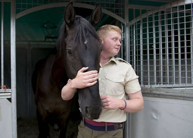 The men and horse of the Household Cavalry