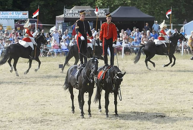a display of equestrian skills from the Household Cavalry