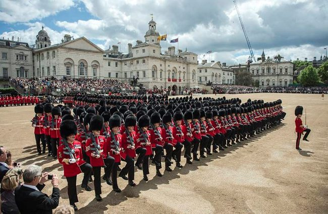 Trooping the Colour at Hrose Guards Parade